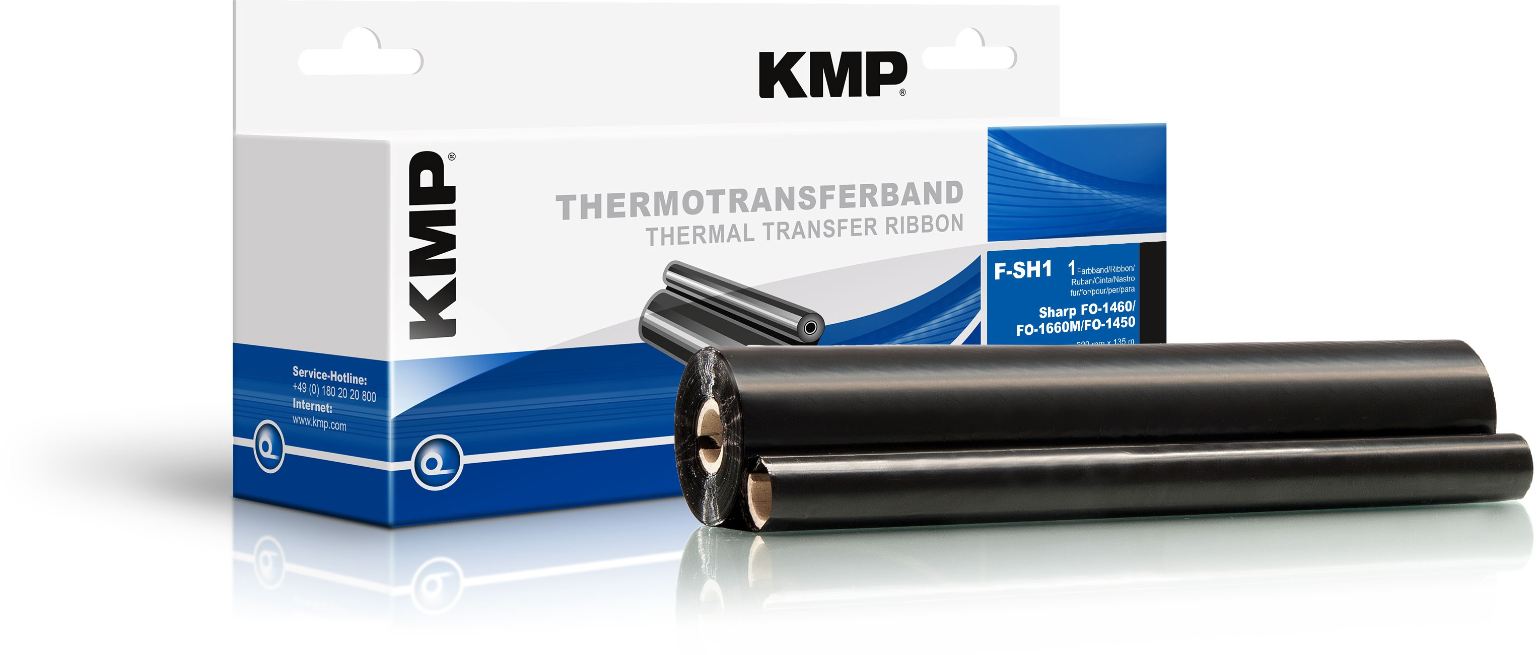 KMP TTR Farbband für Sharp FO-1460 / FO-1660M / FO-1450 schwarz