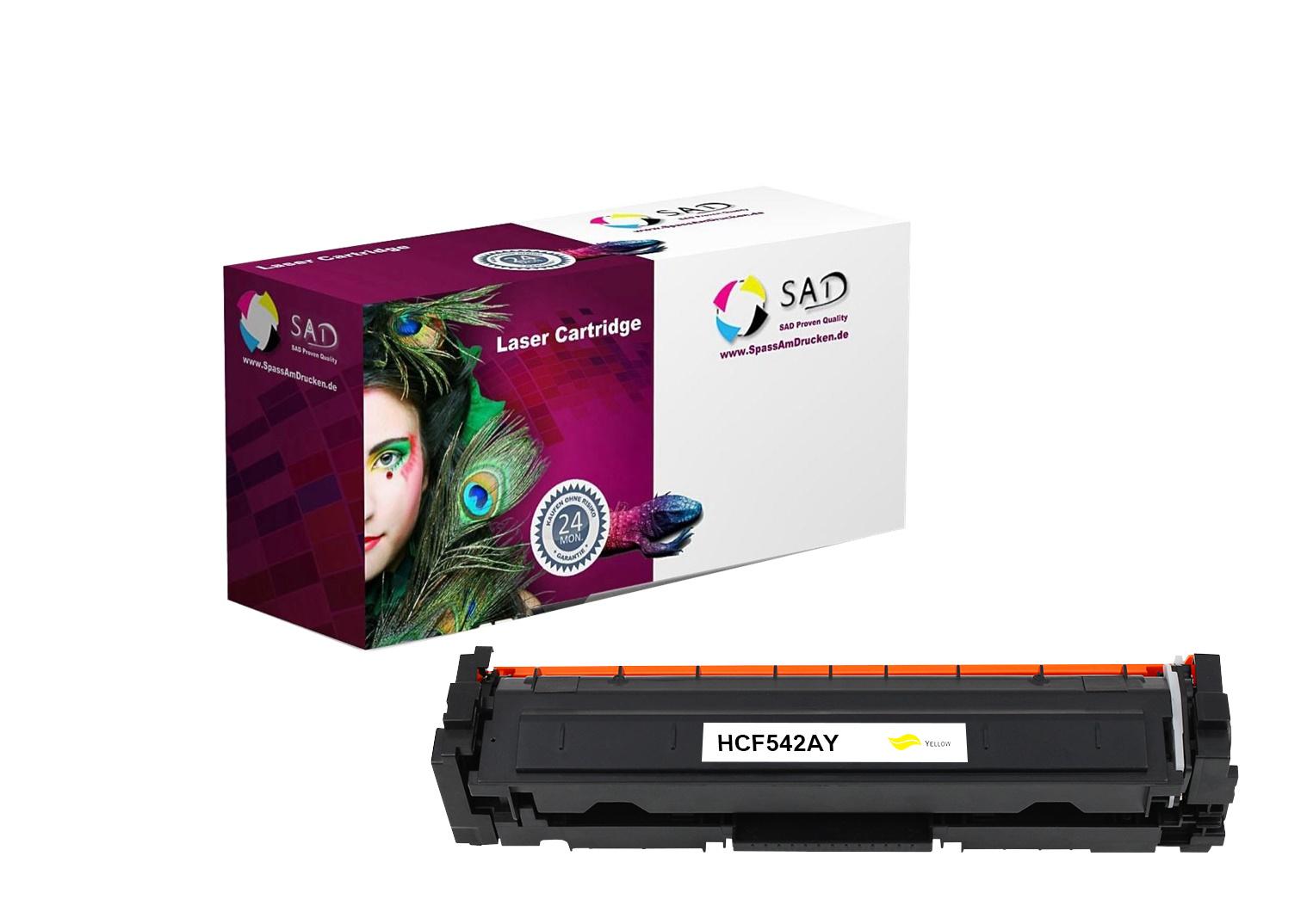 SAD Premium Toner komp. zu HP 203A - CF542A für HP LaserJet Pro M254, HP LaserJet Pro M280, HP Laser
