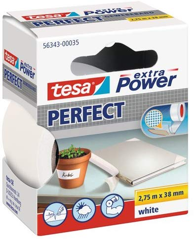tesa Extra Power Perfect Gewebeband weiß 2,75m:38mm