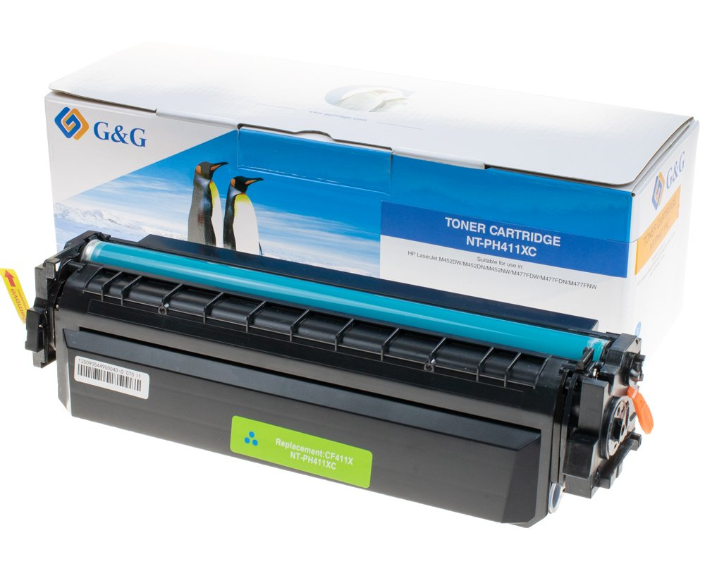 G&G Image XL-Toner kompatibel zu HP 410X/ CF411X cyan