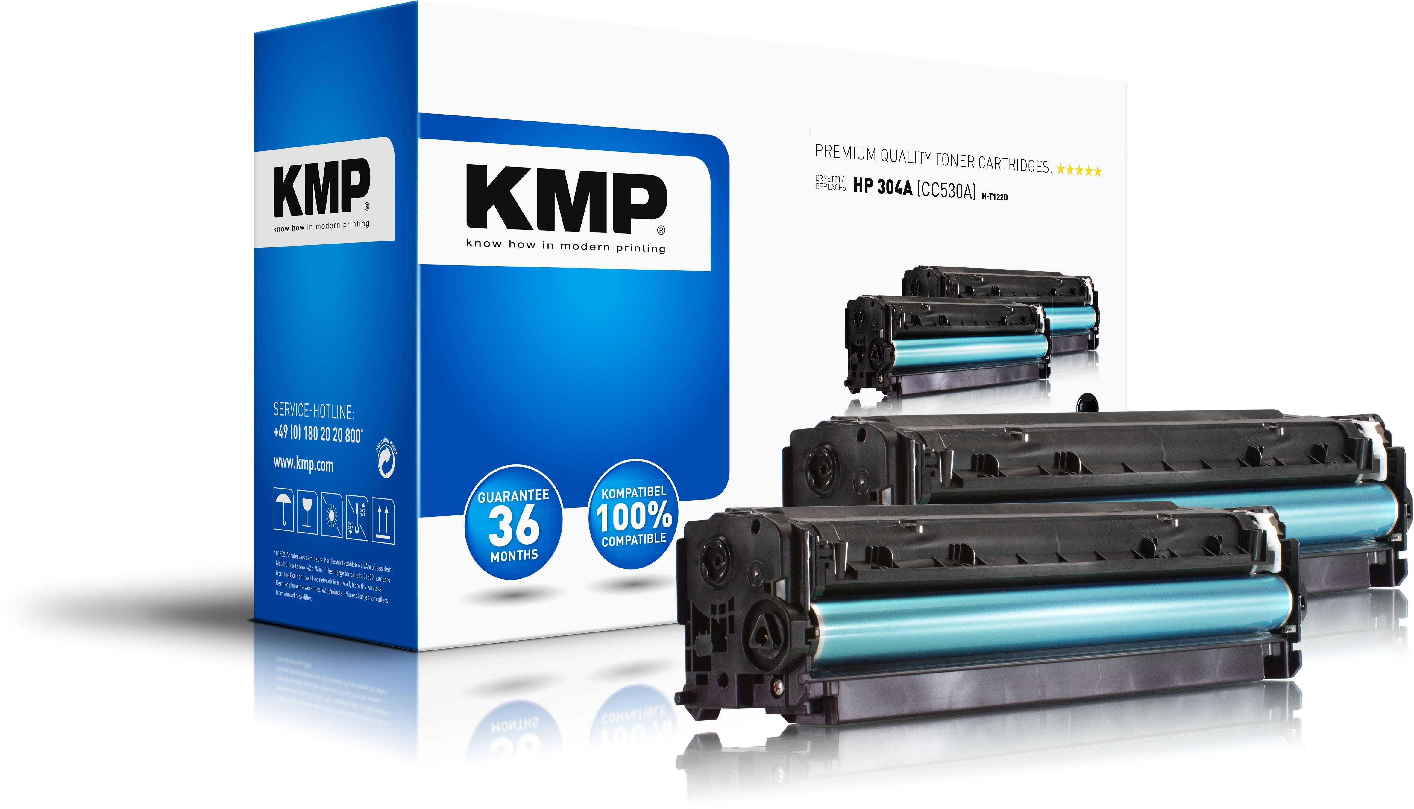 KMP DoppelpackToner H-T122D  für HP CC530A Color LaserJet CP2025 / CM2320 Series black