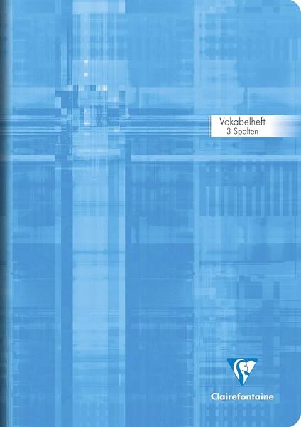 Clairefontaine 31289C Vokabelheft DIN A4 liniert mit 2 Mittelstriche, 90g/qm, holzfrei, 40 Blatt, 1