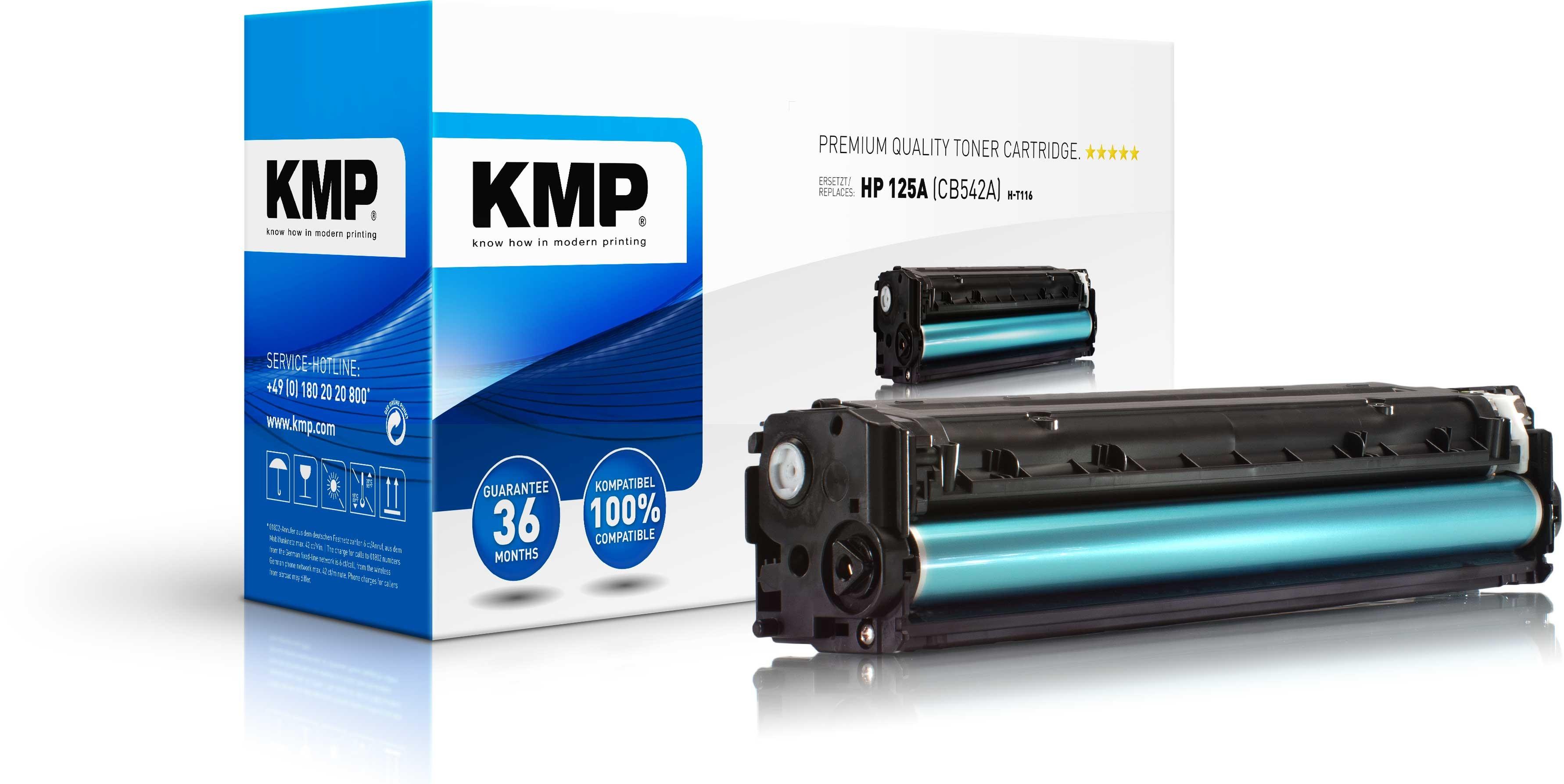 Vorschau: KMP Toner für HP 125A (CB542A) Color Laserjet CM1312 CP1210 CP1510 yellow