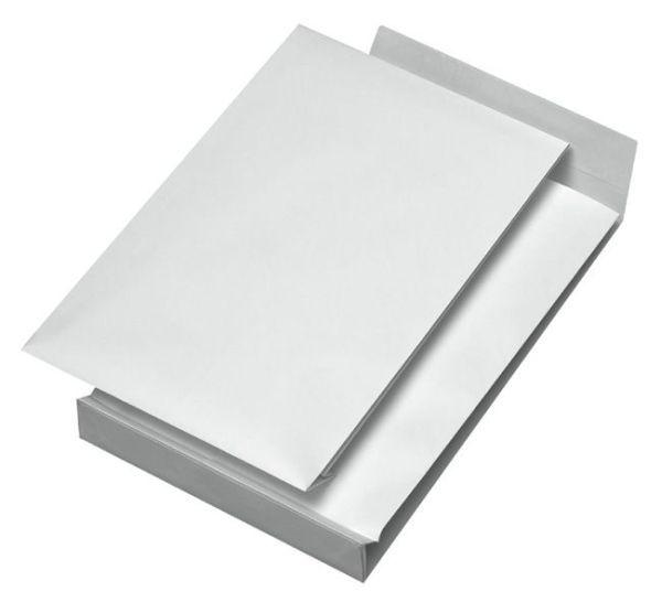 Elepa - rössler kuvert Faltentaschen B4, ohne Fenster, mit 40 mm-Falte und Klotzboden, 140 g/qm, wei