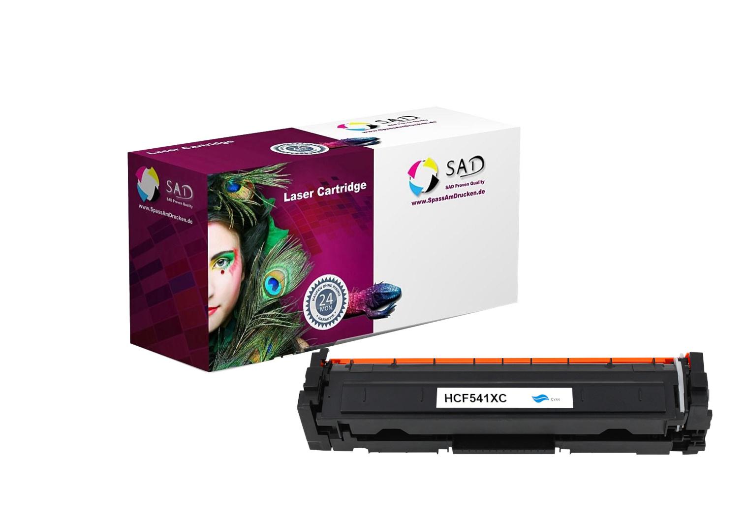 SAD Premium Toner komp. zu HP 203X - CF541X cyan für HP LaserJet Pro M254, HP LaserJet Pro M280, HP