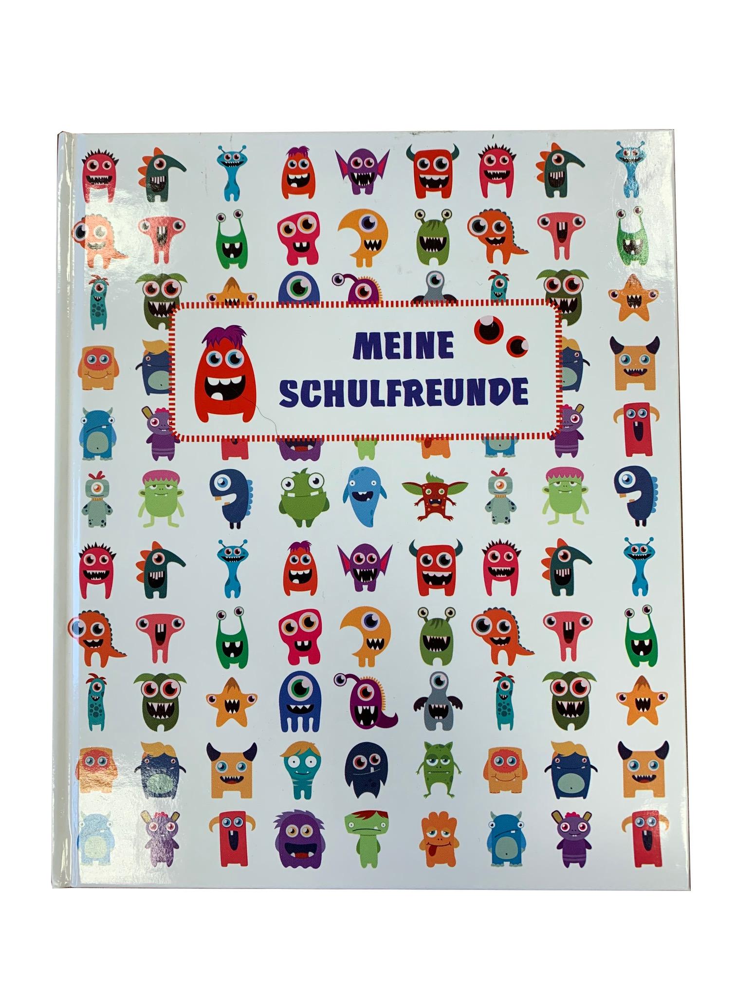 """Schulfreundebuch MONSTER """"Meine Schulfreunde"""" - 34 Blatt"""