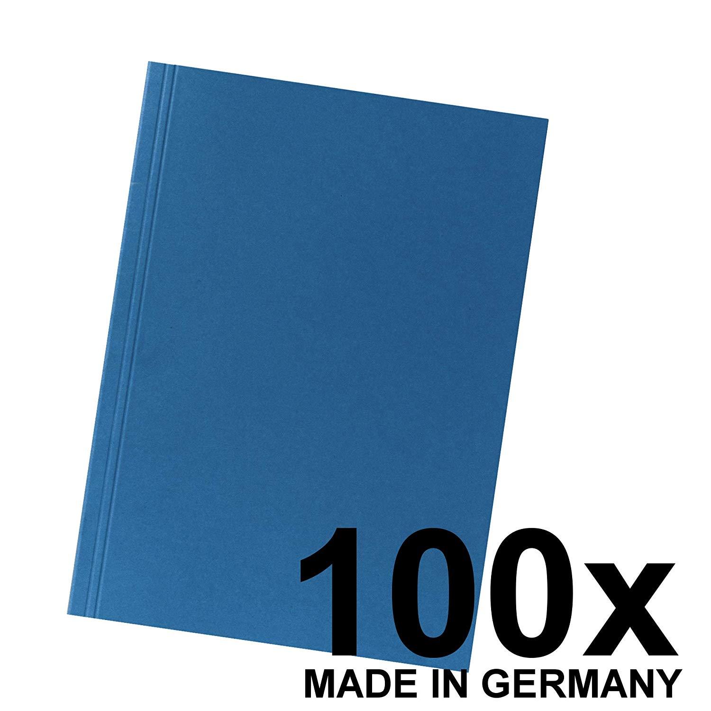 100x Falken Aktendeckel 80004120 BLAU aus Recycling-Karton für DIN A4 Blauer Engel Hefter ideal für