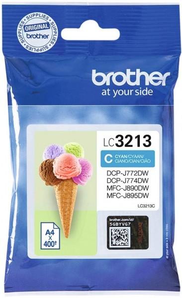 Brother Original Tintenpatrone LC-3213C (cyan) (für Brother DCP-J772DW, DCP-J774DW, MFC-J890DW, MFC-