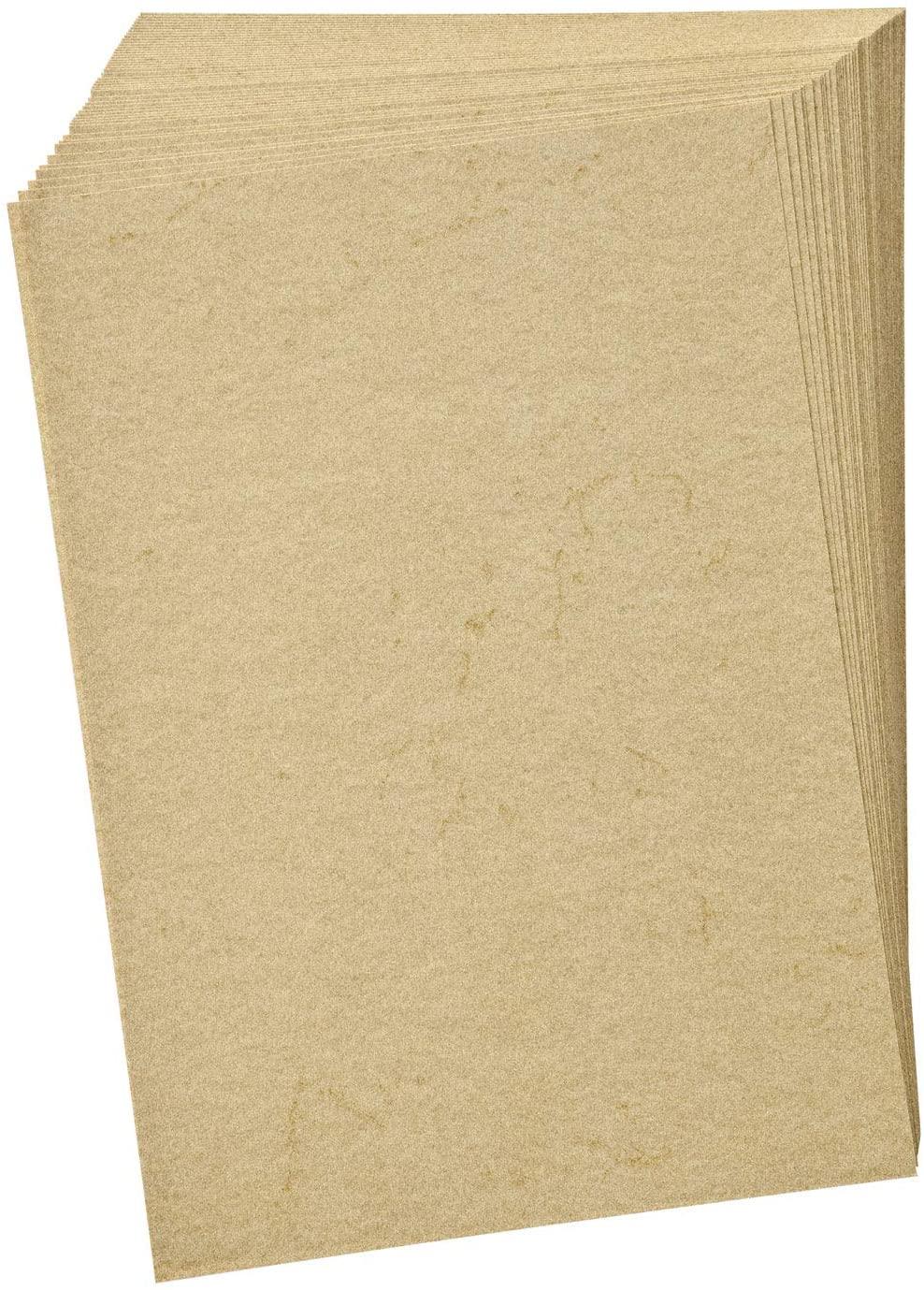 folia 950410 - Elefantenhaut, Urkundenpapier, 50 Blatt, 110 g/qm, DIN A4, chamois - elegantes Papier