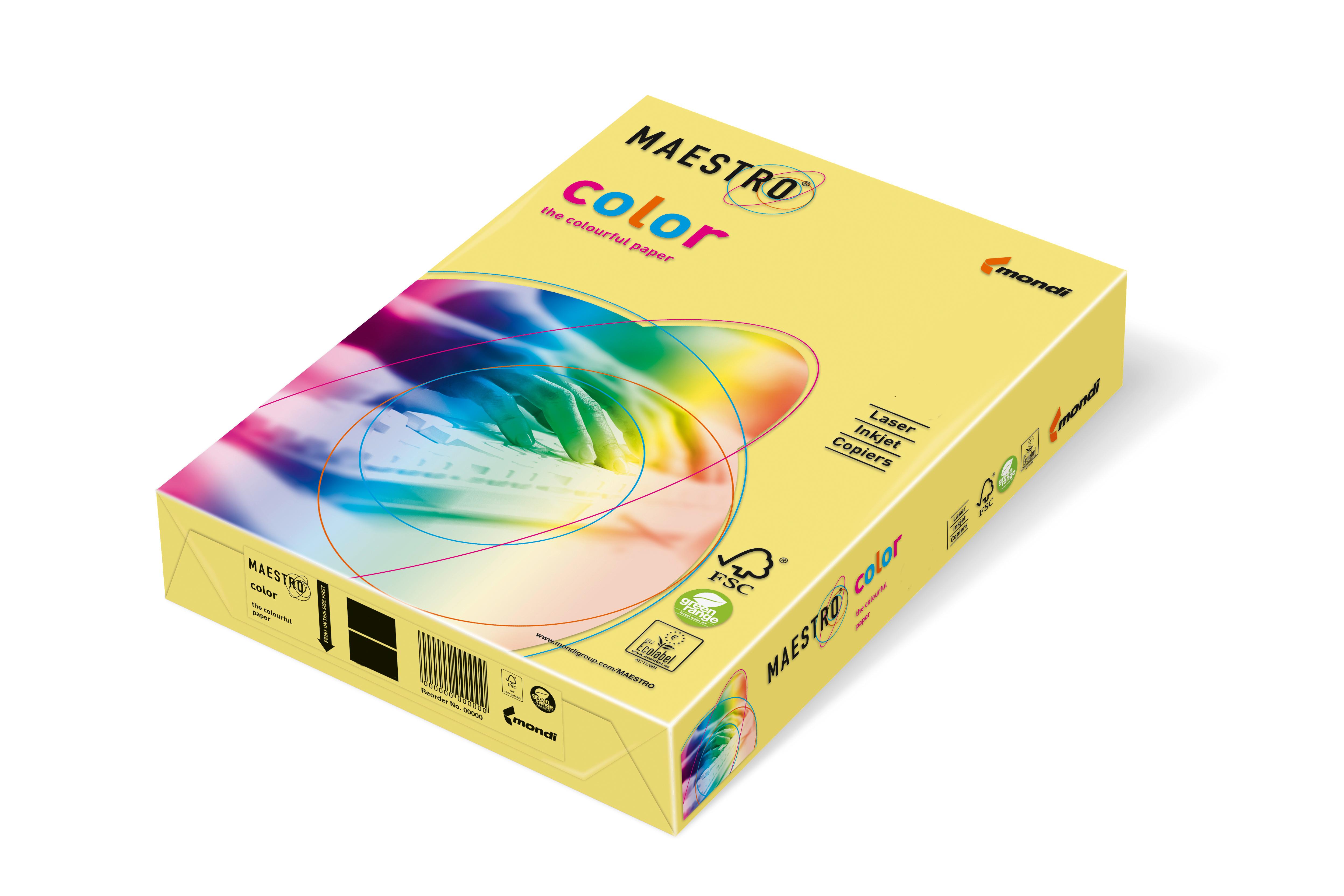 Vorschau: Mondi Maestro Color gelb 160g/m² DIN-A4 - 250 Blatt YE23