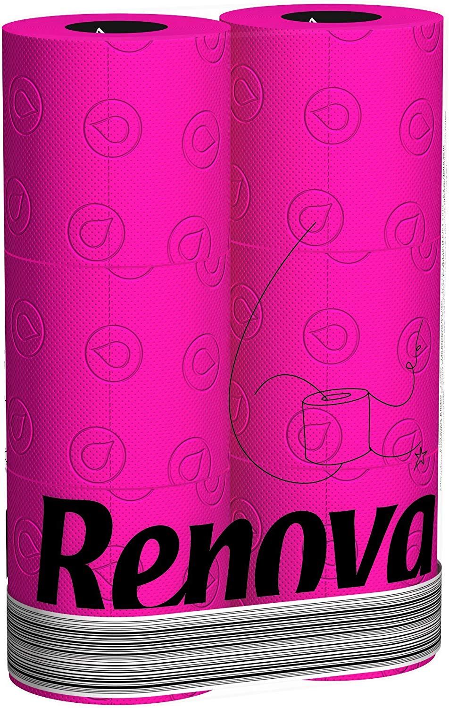 RENOVA Pinkes Toilettenpapier - PINK in Folie 6 Rollen