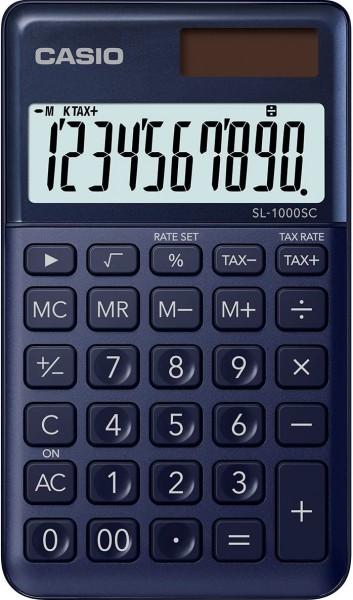 Casio SL-1000SC-NY stylischer Taschenrechner, 10-stellig, marineblau