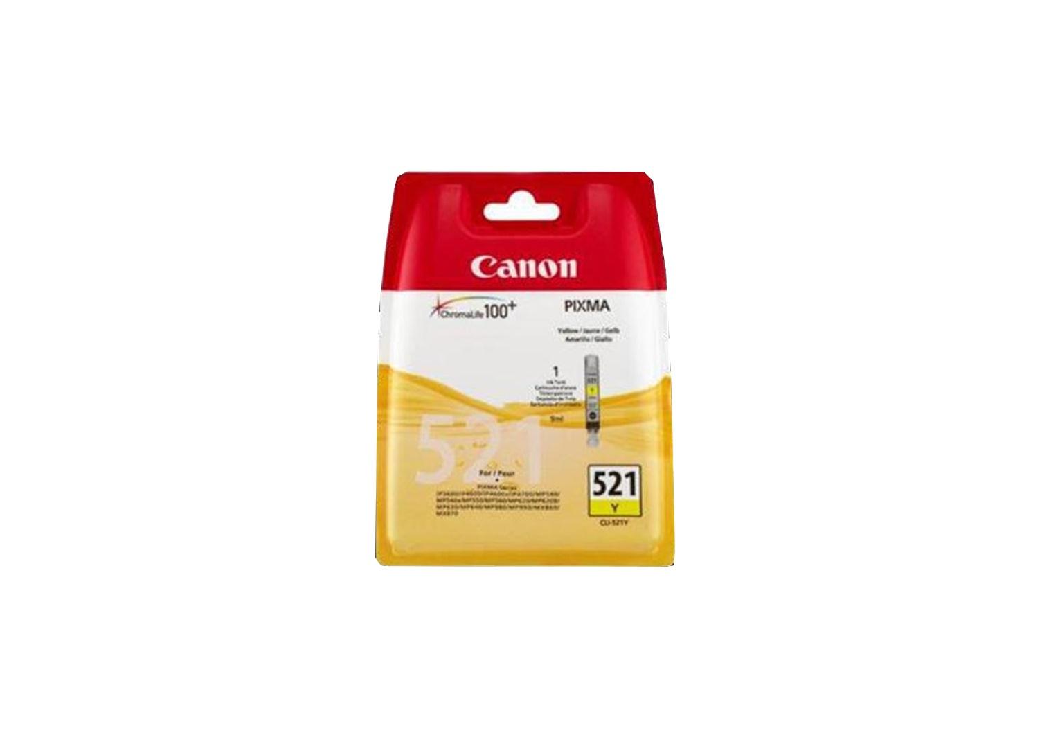 Vorschau: Original Canon CLI-521Y für PIXMA iP3600 4600 MP980 yellow