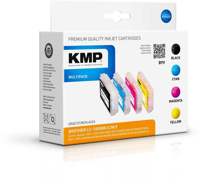 KMP Vorteilspack B9V komp. mit LC1000 für Brother Brother DCP-130