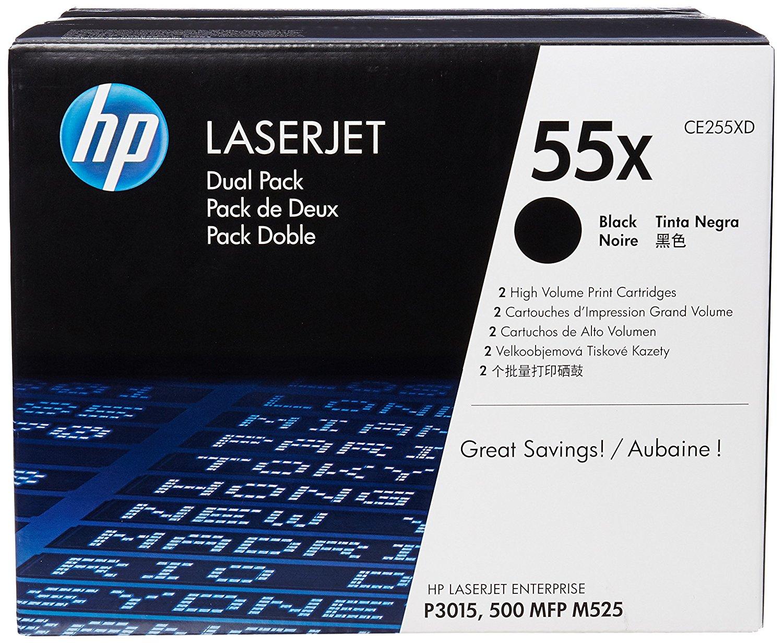 Original HP Toner CE255XD Doppelpack für Laserjet  P 3015 etc. black