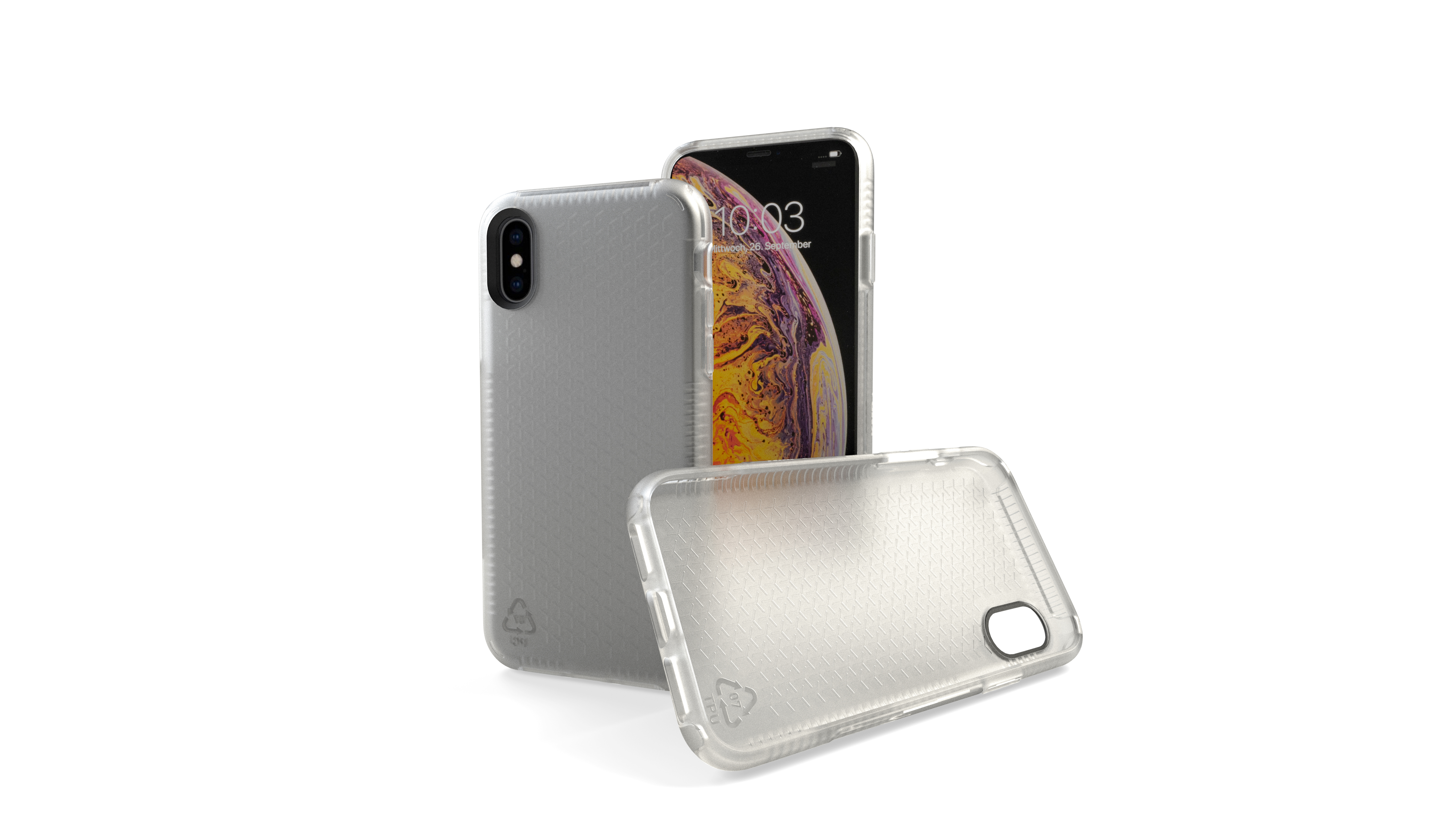 KMP Schutzhülle Sporty Case for iPhone XS Max-transparent