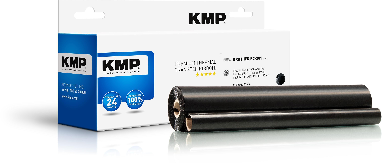 KMP TTR Farbband für Brother Fax 1010 / 1020 / 1030 schwarz