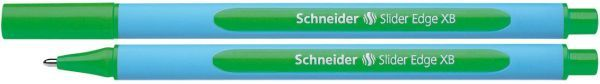 Schneider Kugelschreiber Slider Edge - Kappenmodell, XB, grün