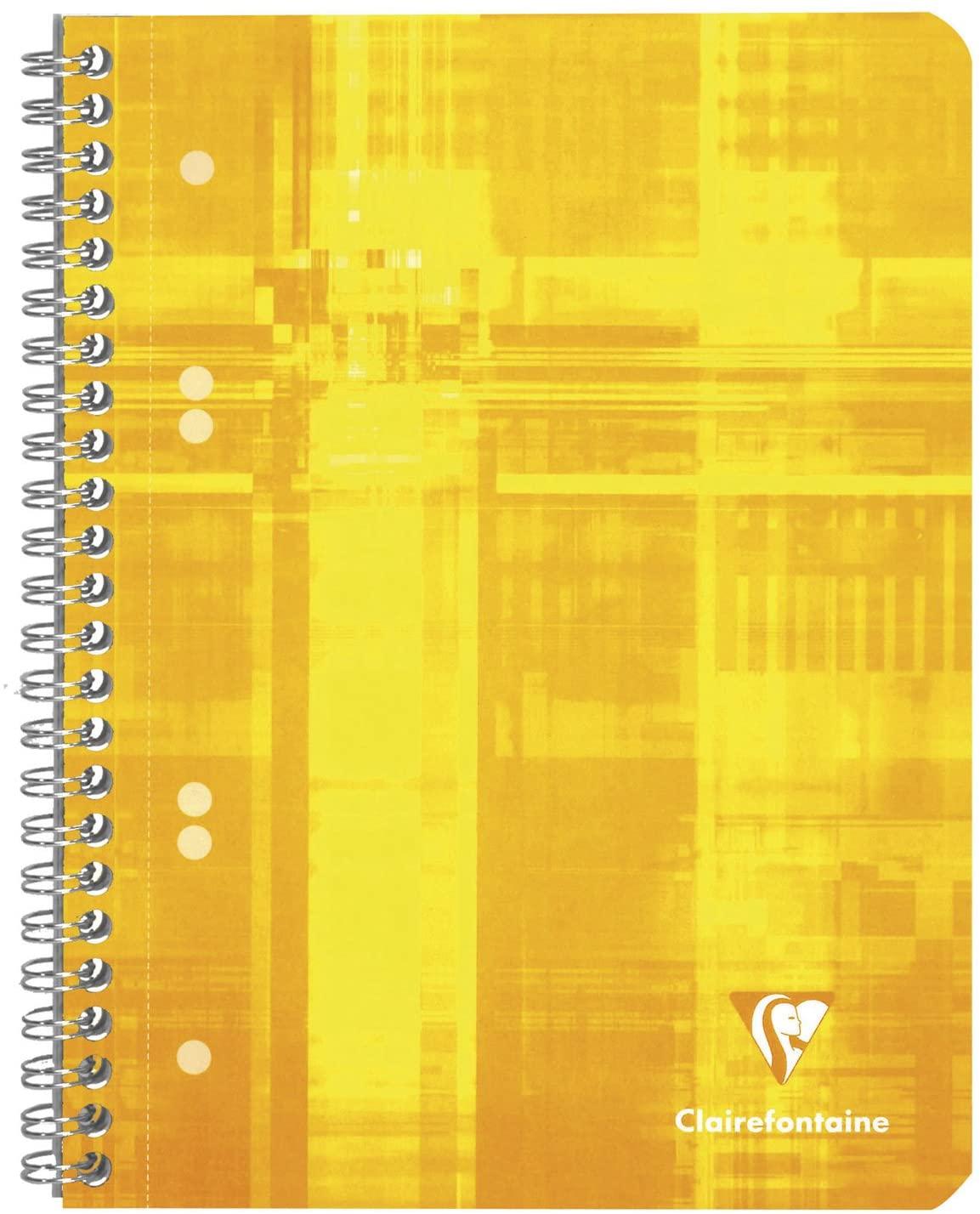 Clairefontaine 8572C Collegeblock (DIN A5, 14,8 x 21 cm, gelocht, 80 Blatt, kariert, Lineatur 5), 1