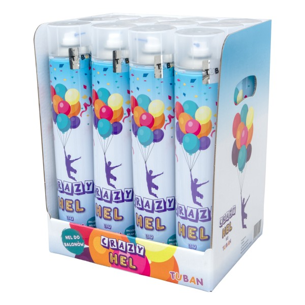 Crazy Hel by Tuban - 12er Pack - Helium - Ballons - 12 L - Party – Geburtstag