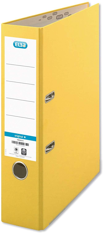 ELBA 100202216 Ordner smart Original Papier 8 cm breit DIN A4 Gelb