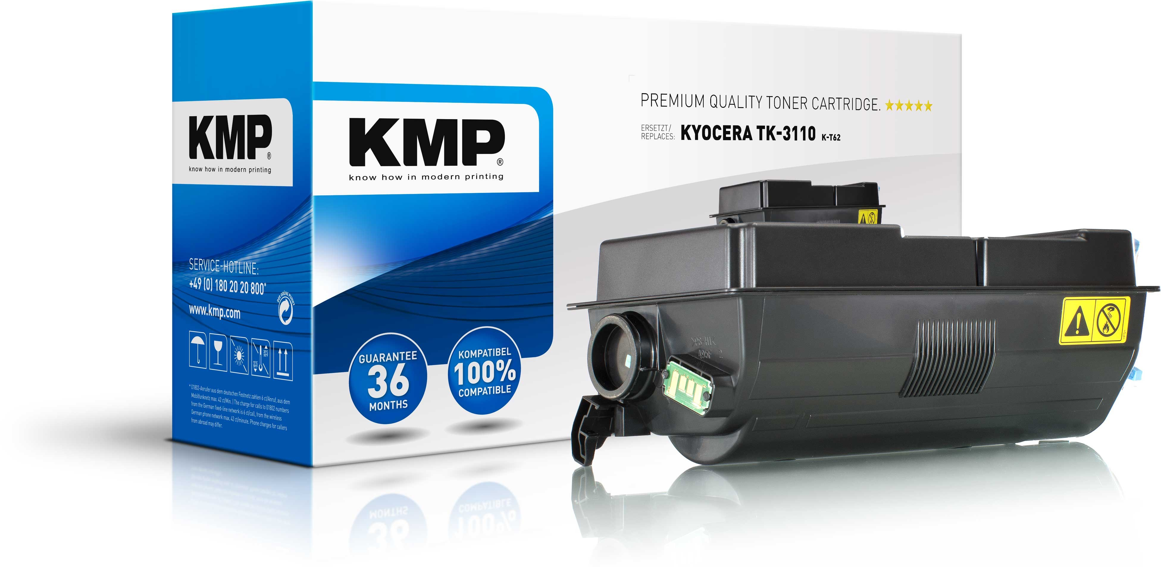 KMP Toner K-T62 für Kyocera TK-3110 FS-4100D etc. black