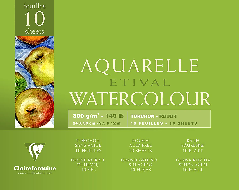 Clairefontaine Aquarellblöcke Etival, rau 96561C 24x30cm rauh 250g