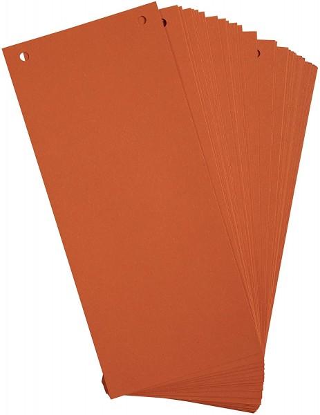 Exacompta 100er Pack Trennstreifen Karton 10,5 x 24 cm Orange für eine übersichtliche Ablage Ihrer D