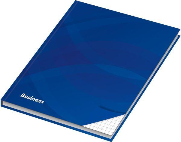 RNK Verlag Notizbuch - A6, Hardcover, kariert, 96 Blatt, blau