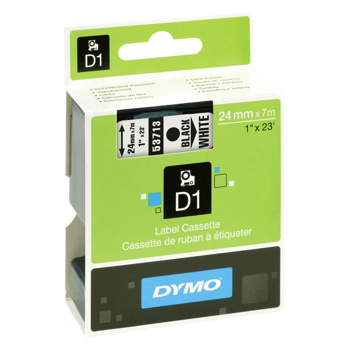 Dymo D1-Schriftband 24mm x 7m schwarz auf weiß