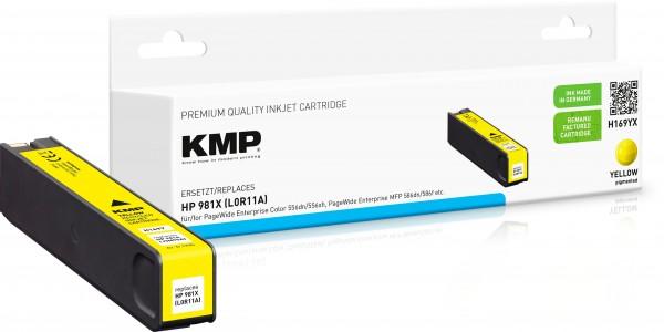 KMP H169YX gelb Tintenpatrone ersetzt HP Page Wide Enterprise HP 981X (L0R11A)
