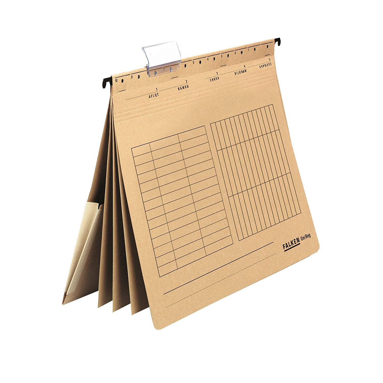 Falken Personalhefter UniReg, 80002363, 230 g/qm Karton, DIN-A4, 4 Fächer, natronbraun
