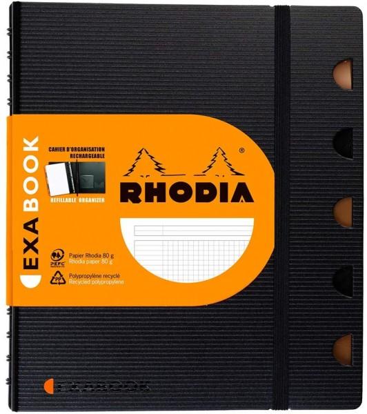 Rhodia 132572C Exabook (DIN A5, 14,8 x 21 cm, ideal für Ihre Notizen, kariert, 80 Blatt) 1 Stück sch