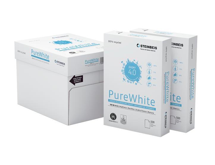 2500 Blatt Steinbeis Pure White 80g/m² DIN-A4 - 110er Weiße