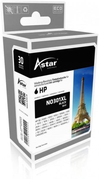 Astar AS15163 Tintenpatrone kompatibel mit HP NO301XL, 480 Seiten, schwarz