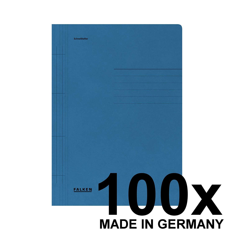 Falken 80000201 Schnellhefter 100er Pack aus Recycling-Karton für DIN A4 kaufmännische und Behördenh