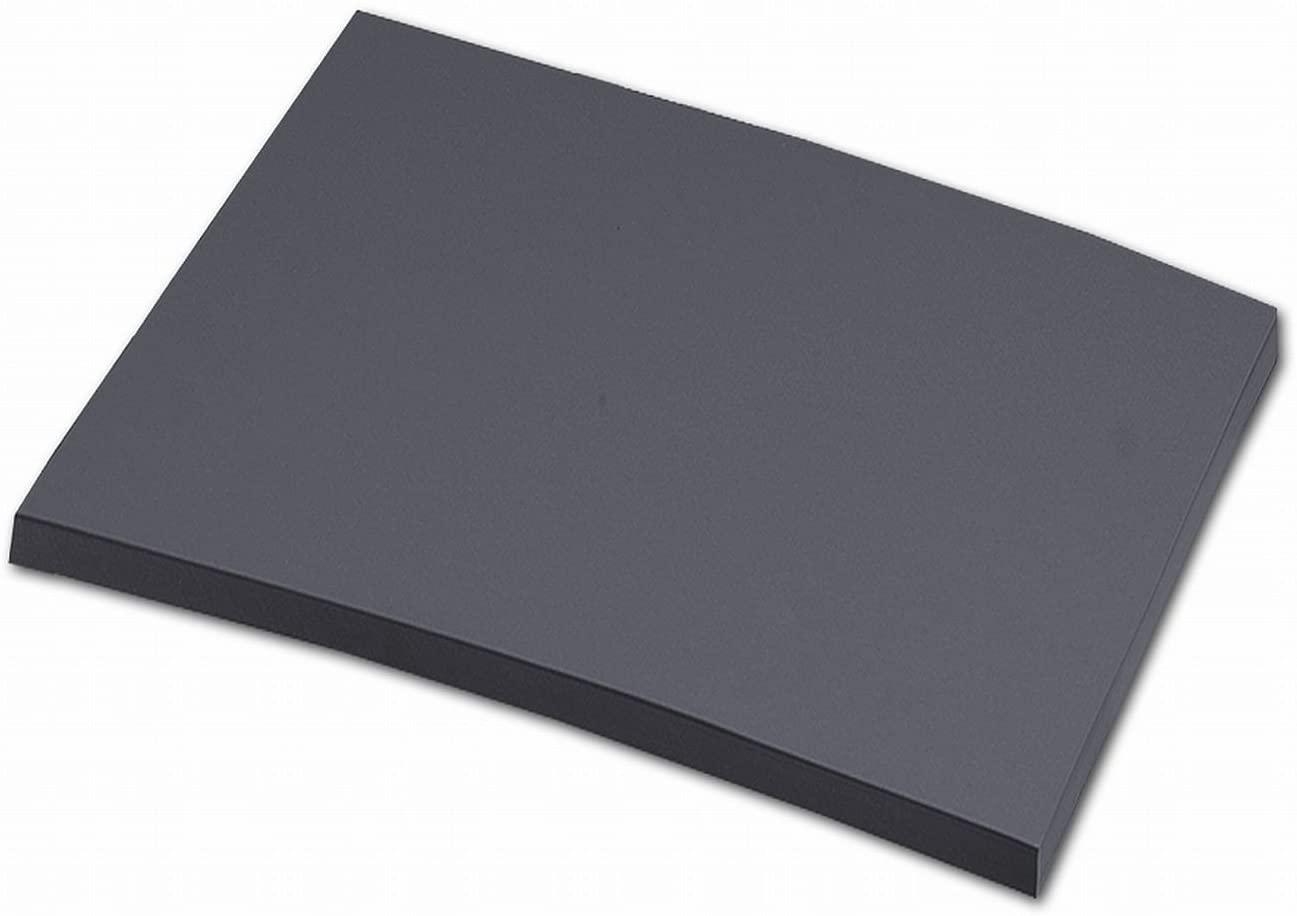 folia 6488 - Tonpapier anthrazit, DIN A4, 130 g/qm, 100 Blatt - zum Basteln und kreativen Gestalten