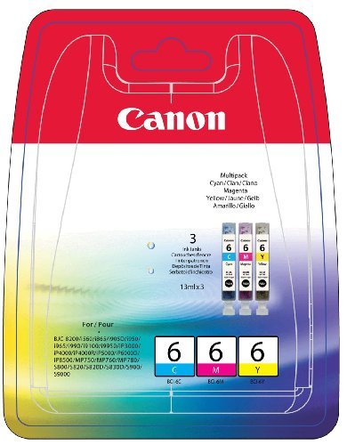 Vorschau: Original Canon Multipack BCI-6 Pixma iP 4000 5000 6000 C / M / Y