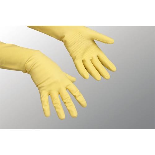 Vileda Handschuhe Safegrip, 8 L gelb Naturlatex