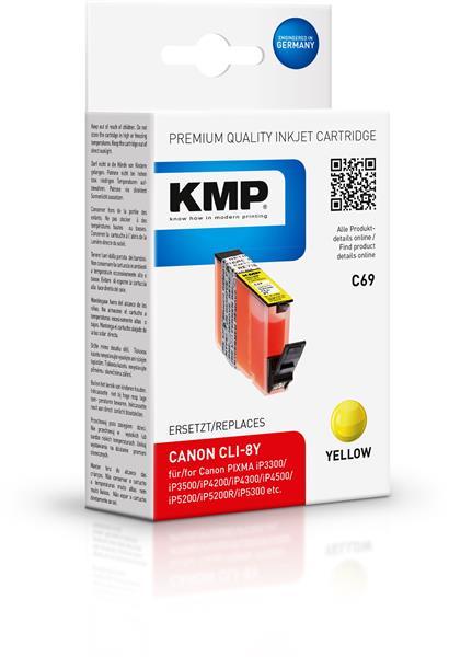 KMP Patrone C69 komp. CLI-8Y Canon PIXMA iP4200 5200 MP500 yello