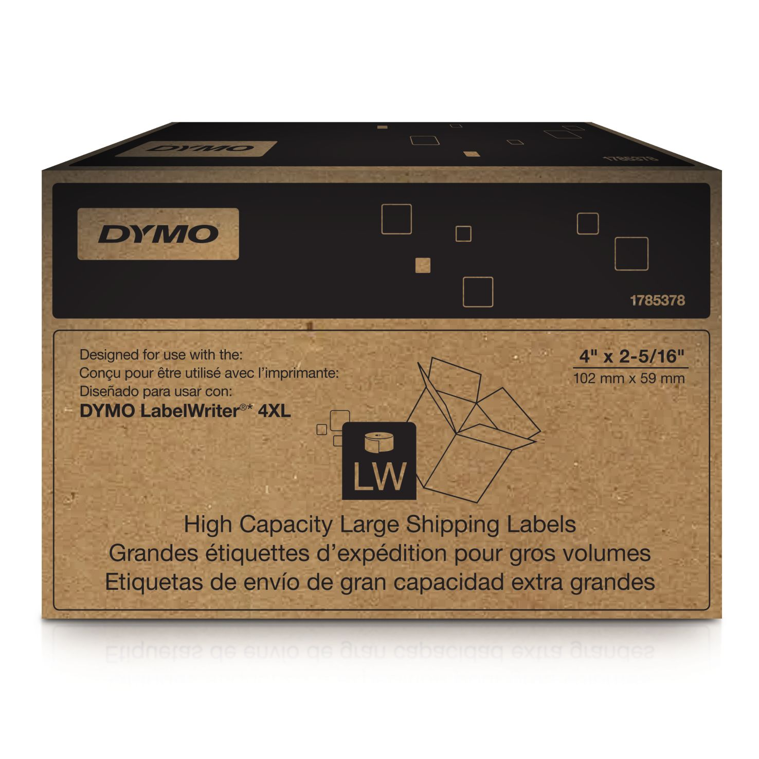 Dymo Label Writer-Versand- / Namensschild-Etiketten 102 x 59 mm