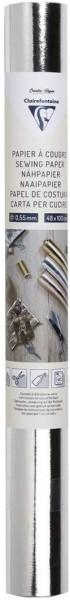 Clairefontaine 95537C – Eine Rolle zum Aufnähen, 48 x 100 cm, silberfarben